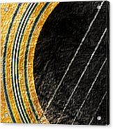 Diptych Wall Art - Macro - Gold Section 1 Of 2 - Vikings Colors - Music - Abstract Acrylic Print