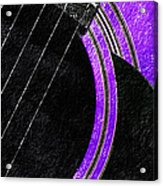Diptych Wall Art - Macro - Purple Section 2 Of 2 - Vikings Colors - Music - Abstract Acrylic Print