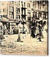Directoire Gown - Philadelphia Mummers 1909 Acrylic Print