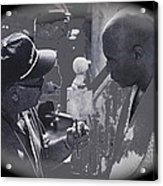 Director Martin Ritt And James Earl Jones Number 2 The Great White Hope Set Globe Arizona 1969-2013 Acrylic Print