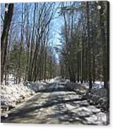 Dirt Road In March Acrylic Print