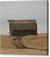 Dirt Road To An Old Leaning Barn Acrylic Print