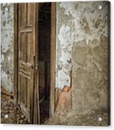 Dirty Door Acrylic Print