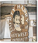 Dirty Harry's Key West - Hdr Style Acrylic Print