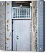 Dirty Metal Door Acrylic Print