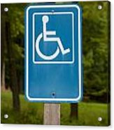 Disabled Parking Sign Acrylic Print