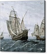 Discovery Of America 1492. The Caravels Acrylic Print