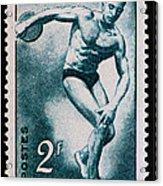 Discus Vintage Postage Stamp Print Acrylic Print