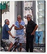 Discussing It In Maiori Italy Acrylic Print
