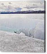 Disintegrating Candelized Melting Ice On Lake Shore Acrylic Print