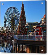 Disney California Adventure Christmas Acrylic Print