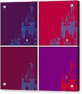 Disney Castle In Purples Acrylic Print