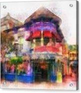 Disney Clothiers Main Street Disneyland Photo Art 01 Acrylic Print