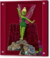 Disney Floral Tinker Bell 02 Acrylic Print