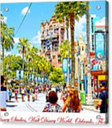 Disney Studios Walt Disney World Orlando Florida Acrylic Print