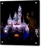 Disneyland Christmas Castle Acrylic Print