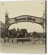 Disneyland Downtown Disney Signage 02 Heirloom Acrylic Print