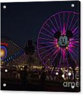 Disneyland Ferris Wheel At Dark Acrylic Print
