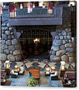 Disneyland Grand Californian Hotel Fireplace 01 Acrylic Print