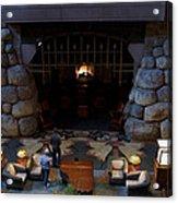 Disneyland Grand Californian Hotel Fireplace 02 Acrylic Print