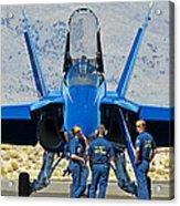Display Debrief- Blue Angels Acrylic Print