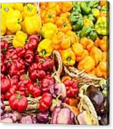 Display Of Fresh Vegetables At The Market Acrylic Print