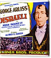 Disraeli, George Arliss On Title Card Acrylic Print