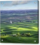 Distant Vista From Steptoe Butte Acrylic Print