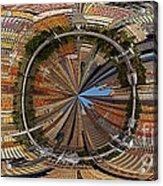 Distorted Lower Manhattan Acrylic Print