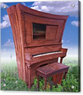 Distorted Upright Piano 2 Acrylic Print by Mike McGlothlen
