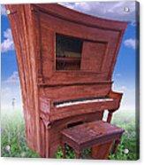 Distorted Upright Piano Acrylic Print