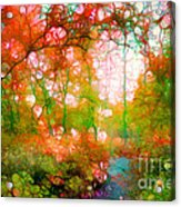Distortions Of Autumn Acrylic Print