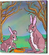 Distracted Easter Bunnies Acrylic Print
