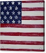 Distressed American Flag Acrylic Print by Holly Anderson