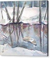 Ditch Pool April Acrylic Print by Grace Keown