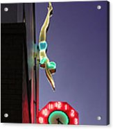 Dive In Retro Neon Acrylic Print