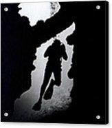Diver Silhouette  Acrylic Print