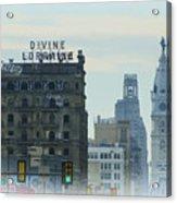Divine Lorraine And City Hall - Philadelphia Acrylic Print