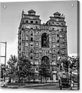 Divine Lorraine In Pain - Black And White Acrylic Print