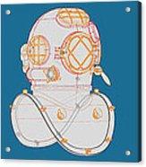 Diving Helmet Mark V Acrylic Print