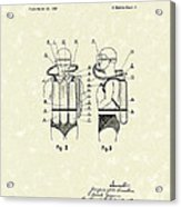 Diving Unit 1949 Patent Art  Acrylic Print by Prior Art Design