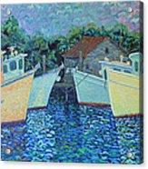 Divisionistic Shrimp Boats Acrylic Print