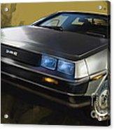 Dmc Sports Car Acrylic Print by Uli Gonzalez