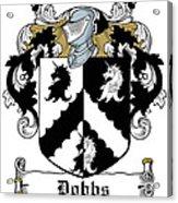 Dobbs Coat Of Arms Irish Acrylic Print