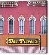 Doc Pierces Restaurant And Saloon Building Detail Acrylic Print