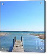 Dock And Traverse Bay Acrylic Print