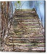 Dock In The Glades Acrylic Print