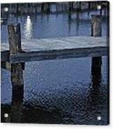 Dock In The Moon Light Acrylic Print