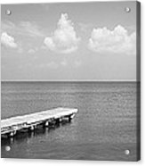 Dock, Mobile Bay Alabama, Usa Acrylic Print