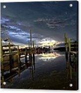 Dock Of The Bay Acrylic Print by Bob Jackson
